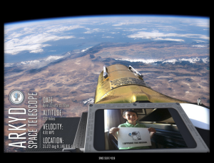 "A sample of a ""Space Selfie"" made possible by ARKYD. (Source: kickstarter.com)"