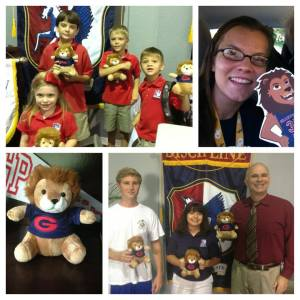 Looking for Leo Contest winners with their very own stuffed Leos.