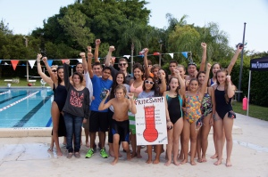 Grandview swimmers were ecstatic to have exceeded their goal.