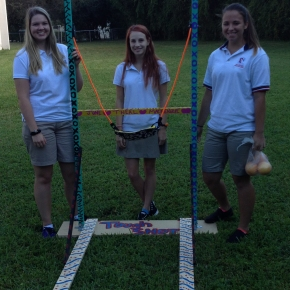 Physics Students Construct Giant Slingshots