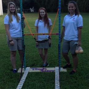 Physics Students Construct GiantSlingshots