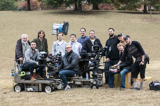 Matt with the camera department for Addicted, A Lionsgate film shot in Atlanta, November of 2012. He's in the green hoodie, 3rd from the left. This was Matt's first feature film as a union member.