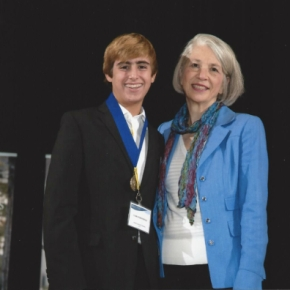 8th grade student Tasman Rosenfeld honored at Johns Hopkins CTY ceremony