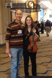 Sophomore Sydney Goldberg (right) and Grandview Music Director Mr. Michael Yannette
