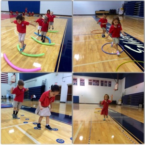 Teaching physical education at Grandview Preparatory School, a private school in Boca Raton, Florida.