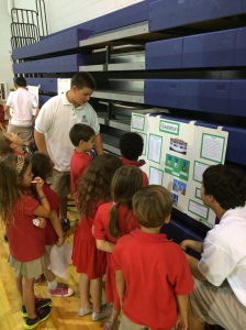 Students at Grandview Preparatory School, a private school in Boca Raton, Florida, complete projects for physical education class.
