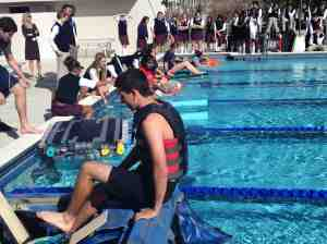 Students prepare for the Grandview Regatta.