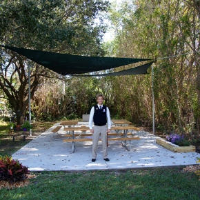 Grandview Student Builds New Outdoor Learning Space