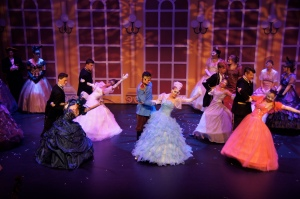 Upper school students perform in Rogers and Hammerstein's Cinderella in April 2015.